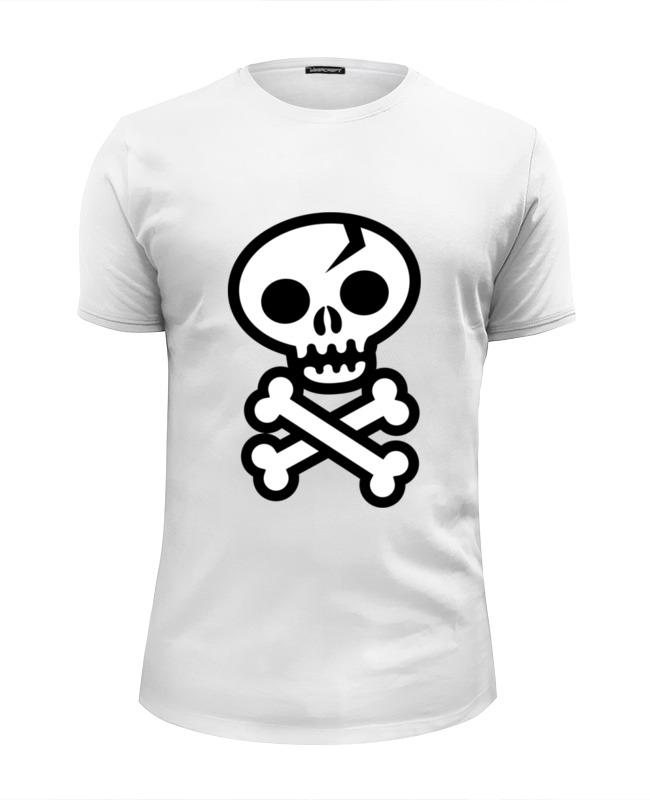 Футболка Wearcraft Premium Slim Fit Printio Череп и кости футболка wearcraft premium slim fit printio тону