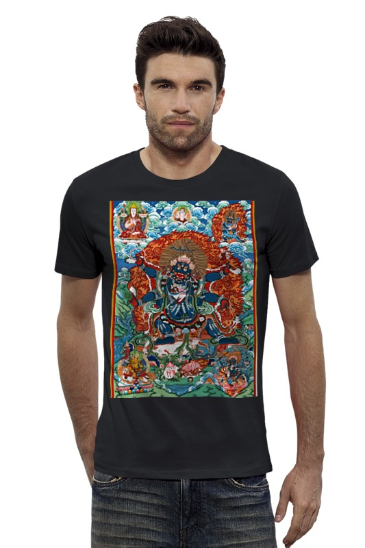 Футболка Wearcraft Premium Slim Fit Printio Тибетская vajrabhairava 元素传说:所罗门王之匙