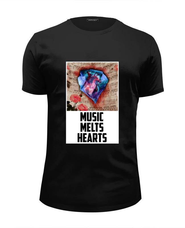 Футболка Wearcraft Premium Slim Fit Printio Музыка растапливает сердца - music melts hearts b toys чем поп музыка довольно творческие бисерные бусы 50 лет не должен выстраиваться 4 портативное оборудование океана синего bx1378z