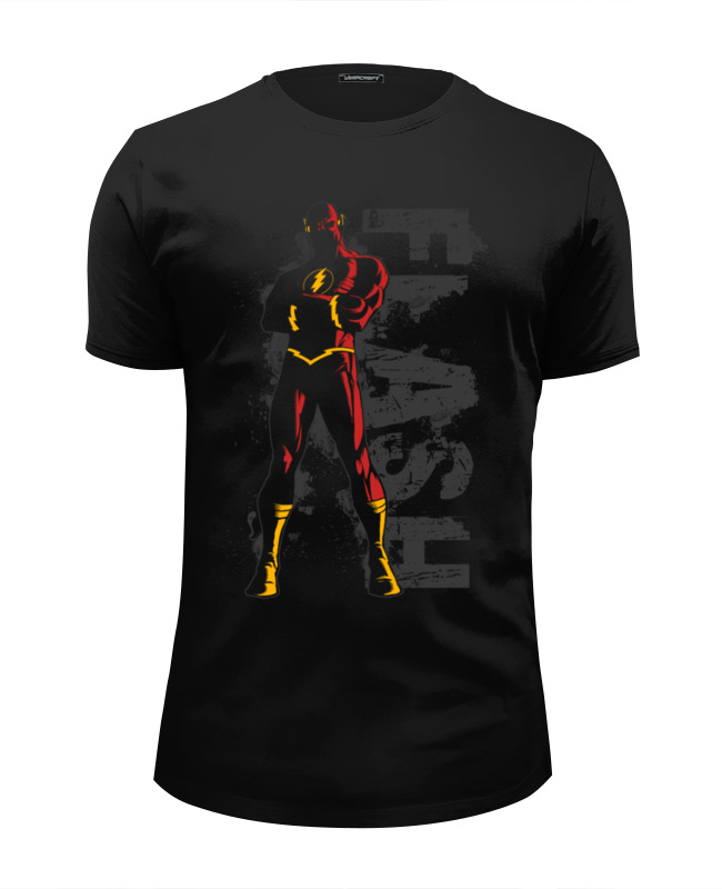 Футболка Wearcraft Premium Slim Fit Printio Флэш (flash) футболка wearcraft premium slim fit printio flash футболка шелдона