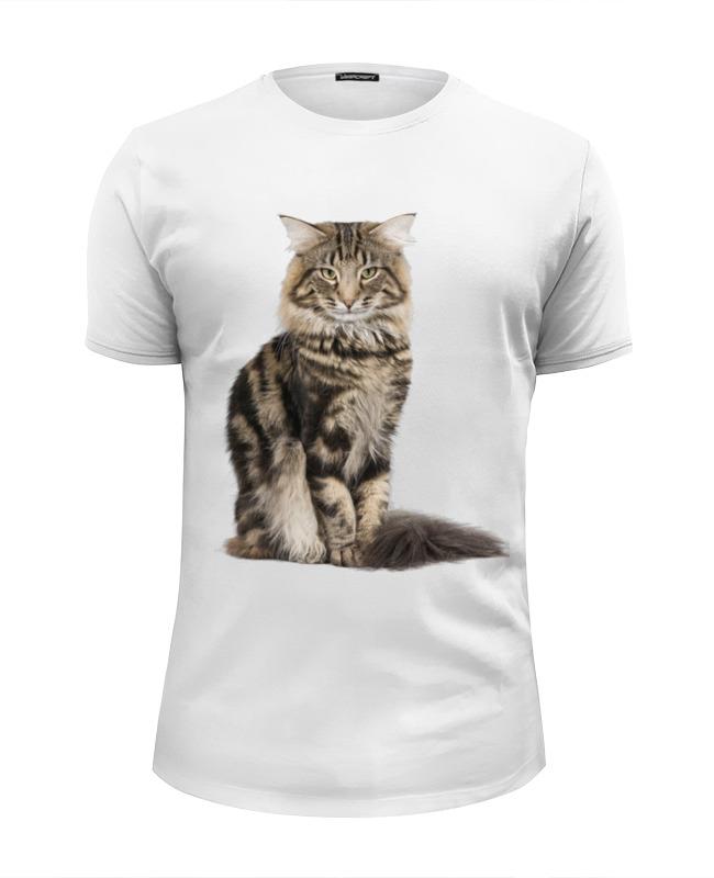 Футболка Wearcraft Premium Slim Fit Printio Милый пушистый кот