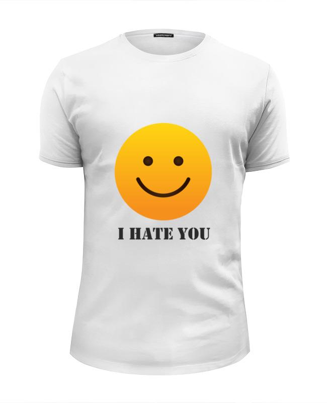 Футболка Wearcraft Premium Slim Fit Printio I hate you футболка wearcraft premium slim fit printio i hate my boss