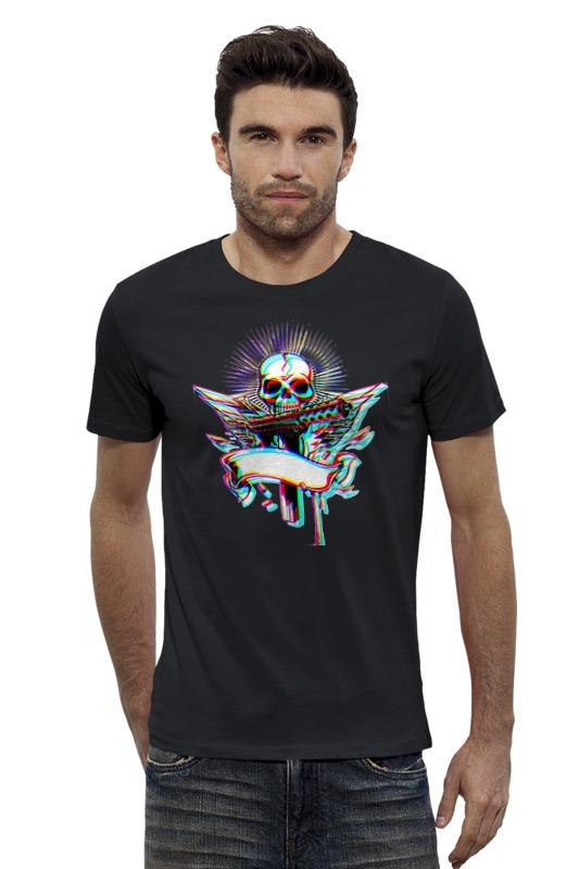 Футболка Wearcraft Premium Slim Fit Printio Принт череп абстракция dorothys нome сидушка декоративная принт абстракция цвет синий