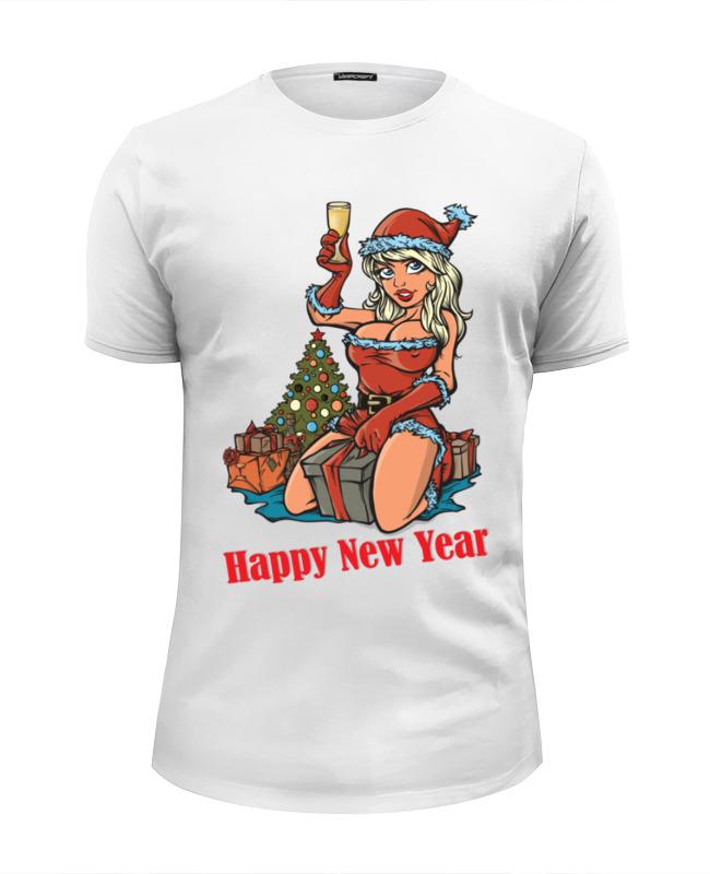 Футболка Wearcraft Premium Slim Fit Printio Снегурочка поздравляет с новым годом! футболка wearcraft premium slim fit printio дед мороз и снегурочка с новым годом