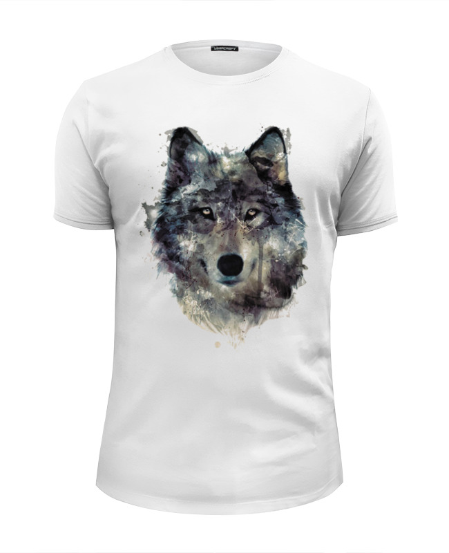 Футболка Wearcraft Premium Slim Fit Printio Серый волк цена