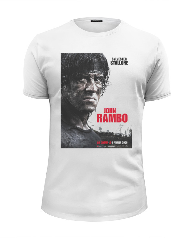 Футболка Wearcraft Premium Slim Fit Printio Rambo iv футболка joma футболка elite iv