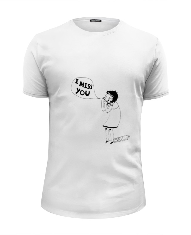 Футболка Wearcraft Premium Slim Fit Printio I miss you