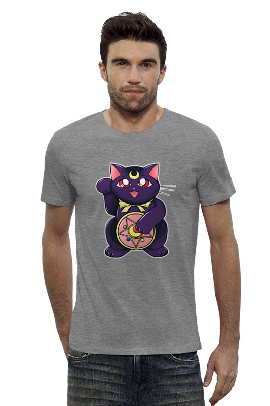 Футболка Wearcraft Premium Slim Fit Printio Манэки-нэко (кот счастья) футболка wearcraft premium slim fit printio черный кот манэки нэко