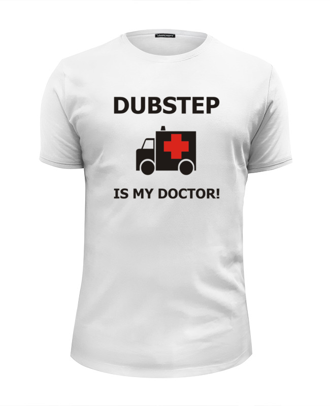 Футболка Wearcraft Premium Slim Fit Printio Dubstep is my doctor! футболка wearcraft premium slim fit printio пони dubstep