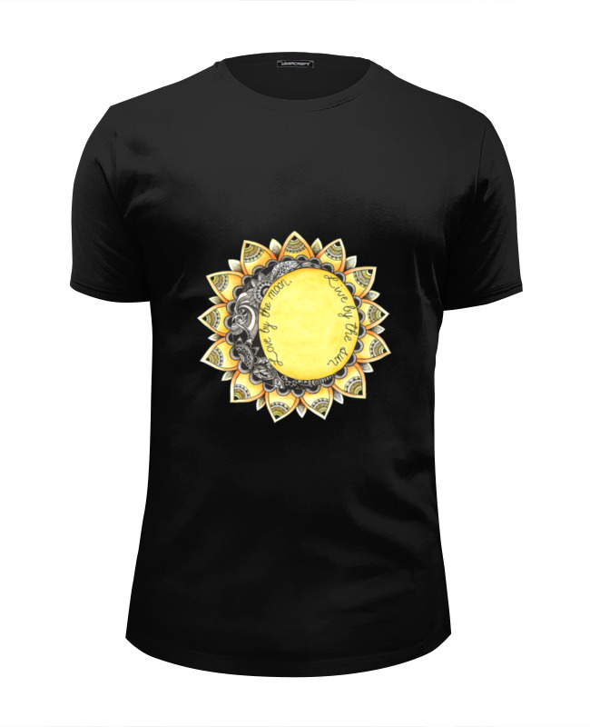 Футболка Wearcraft Premium Slim Fit Printio Love by the moon. live by the sun. the hero within six archetypes we live by