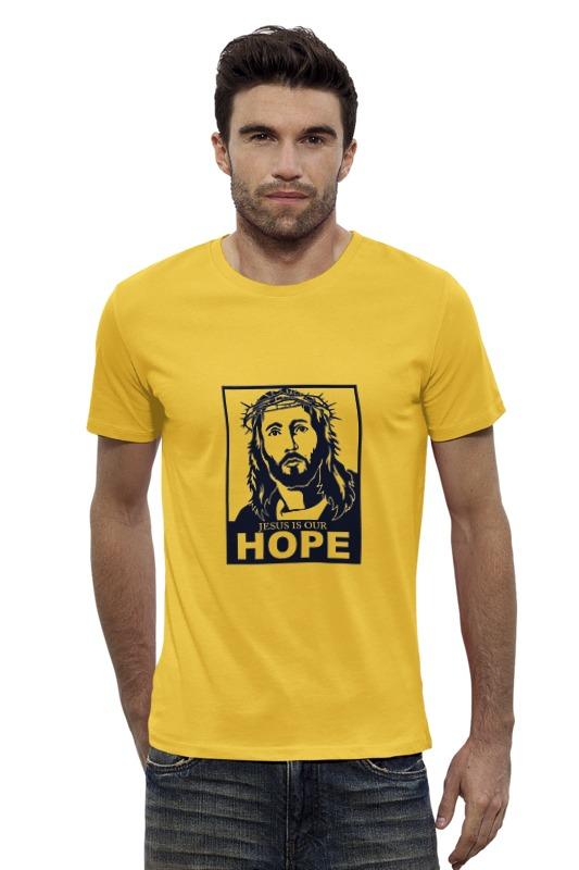 Футболка Wearcraft Premium Slim Fit Printio Иисус - наша надежда снт надежда ива участок