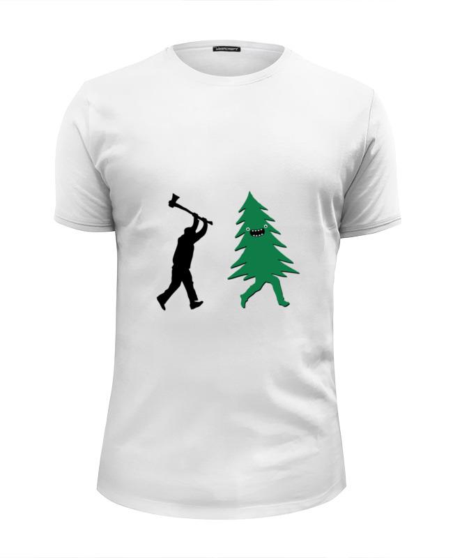 Футболка Wearcraft Premium Slim Fit Printio Дровосек и елка футболка wearcraft premium slim fit printio агутин и кнопка