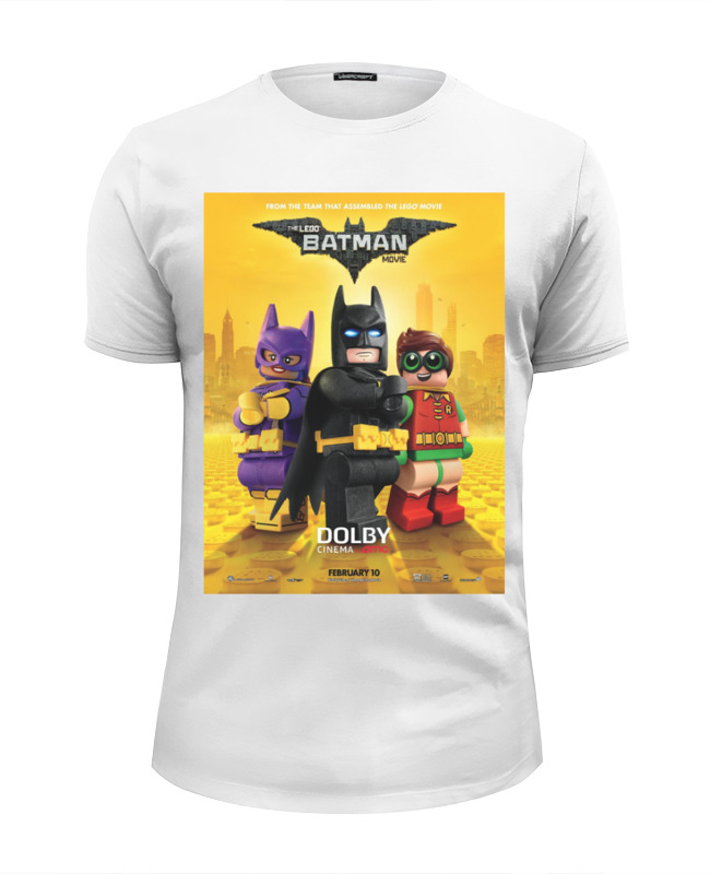 Футболка Wearcraft Premium Slim Fit Printio Лего фильм: бэтмен / the lego batman movie
