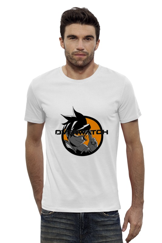 Футболка Wearcraft Premium Slim Fit Printio Overwatch tracer