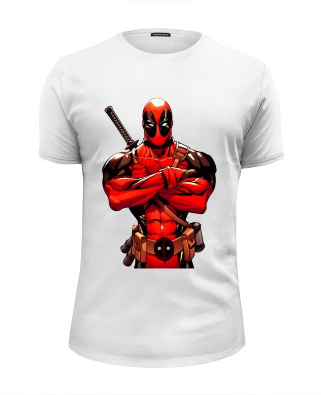 Футболка Wearcraft Premium Slim Fit Printio Deadpool футболка wearcraft premium printio deadpool lantern