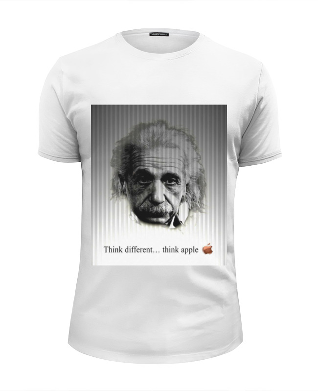 Футболка Wearcraft Premium Slim Fit Printio Эйнштейн