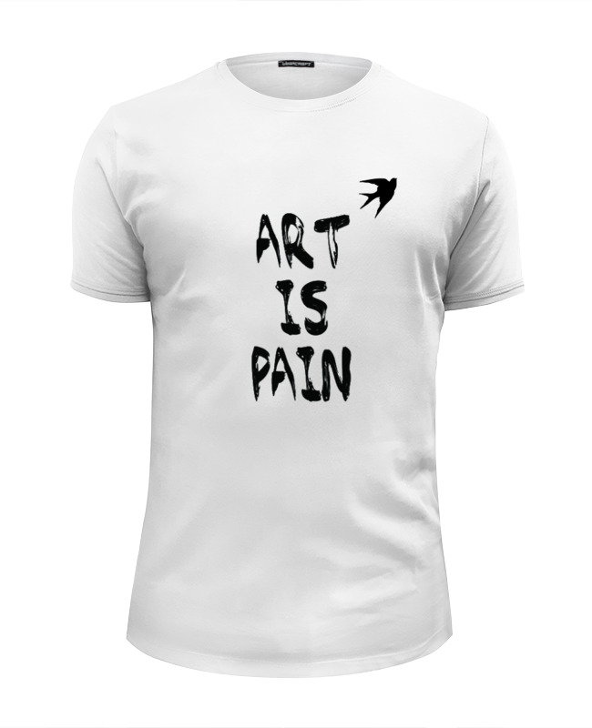 Футболка Wearcraft Premium Slim Fit Printio Art is pain футболка wearcraft premium slim fit printio existence is pain