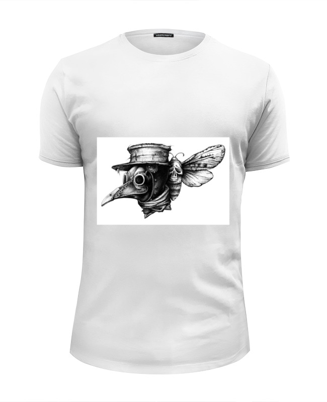 Фото - Футболка Wearcraft Premium Slim Fit Printio Plague худи print bar plague doctor