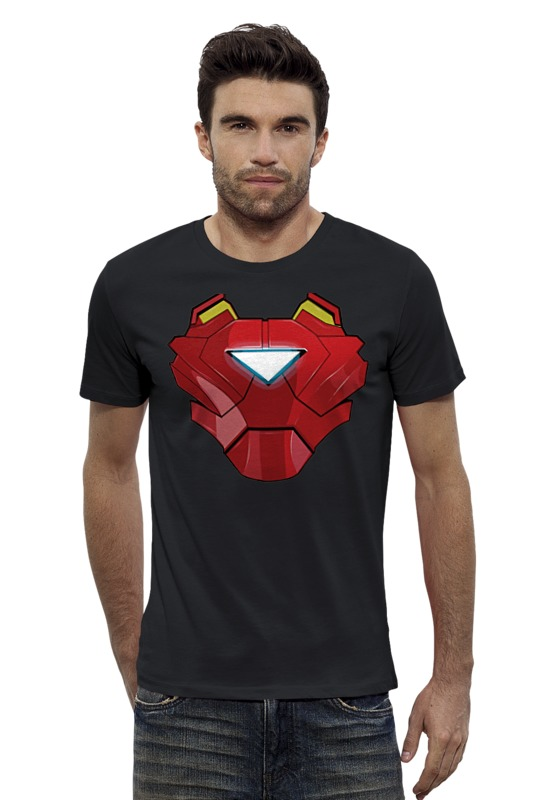 Футболка Wearcraft Premium Slim Fit Printio Ironman / железный человек iclebo arte ironman edition