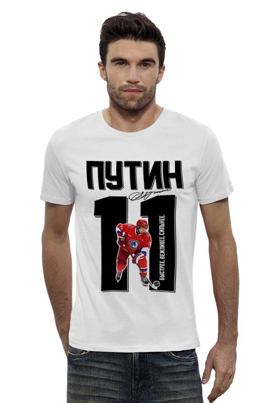 Футболка Wearcraft Premium Slim Fit Printio Путин 11 хоккеист