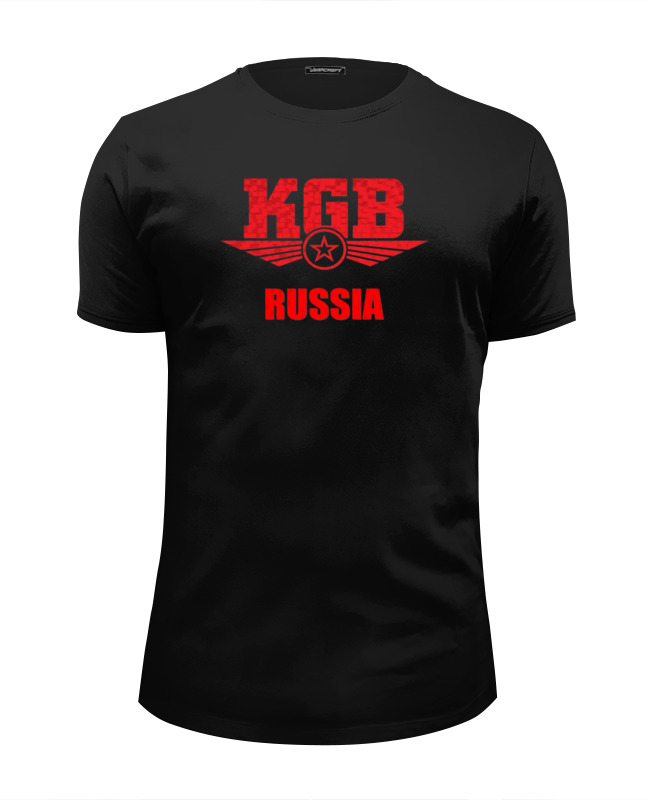 Футболка Wearcraft Premium Slim Fit Printio Kgb russia ep f57 grey