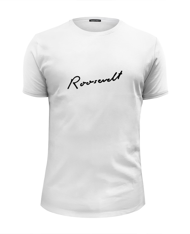 Футболка Wearcraft Premium Slim Fit Printio Roosevelt white t-shirt t shirt polo short sleeve greg g134 shark white white