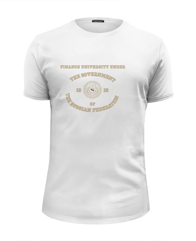 Футболка Wearcraft Premium Slim Fit Printio Футболка женская финансовый университет футболка print bar университет лени
