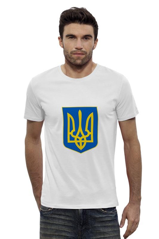 Футболка Wearcraft Premium Slim Fit Printio Герб украины рынок акций украины