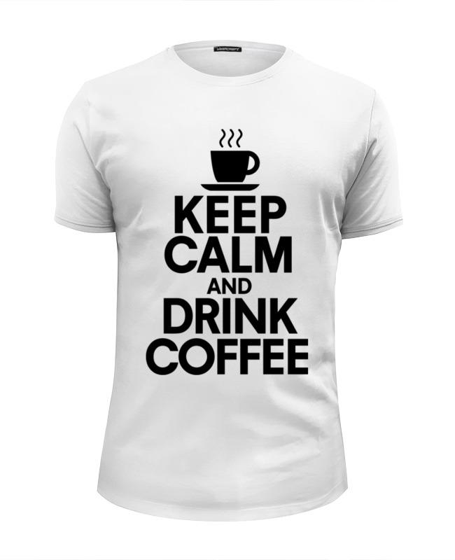 Футболка Wearcraft Premium Slim Fit Printio Пей кофе толстовка wearcraft premium унисекс printio пей кофе