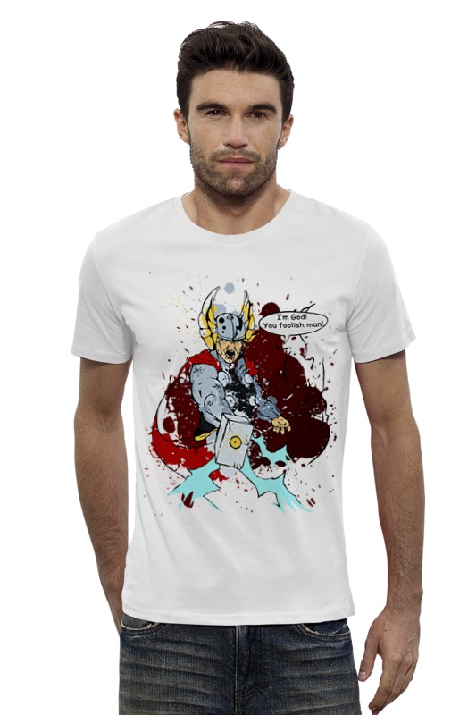 Футболка Wearcraft Premium Slim Fit Printio Thor. the god of thunder bride of the water god v 3