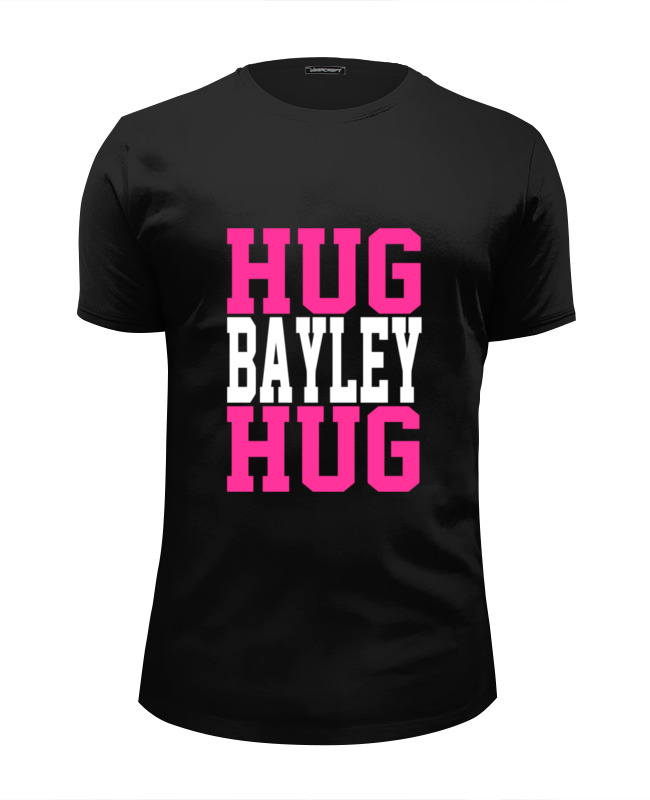 Футболка Wearcraft Premium Slim Fit Printio Hug bayley hug (wwe) little miss hug hc edition