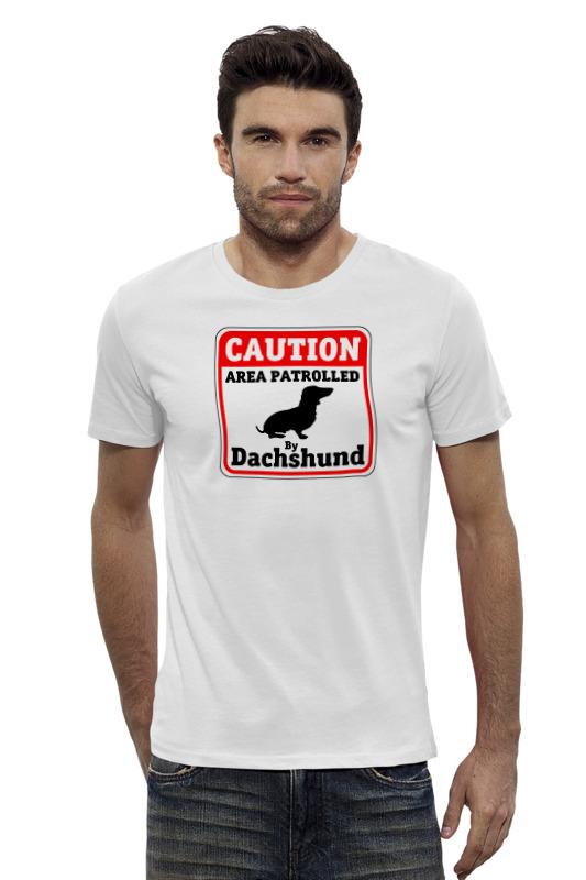 Футболка Wearcraft Premium Slim Fit Printio Caution dachshund patrole lust caution 3001