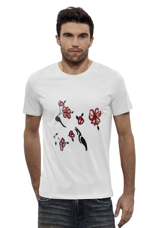 Футболка Wearcraft Premium Slim Fit Printio Красные маки krizia vintage юбка винтажная 80e