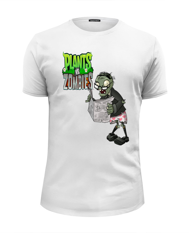 Футболка Wearcraft Premium Slim Fit Printio Plants vs. zombies толстовка wearcraft premium унисекс printio plants vs zombies