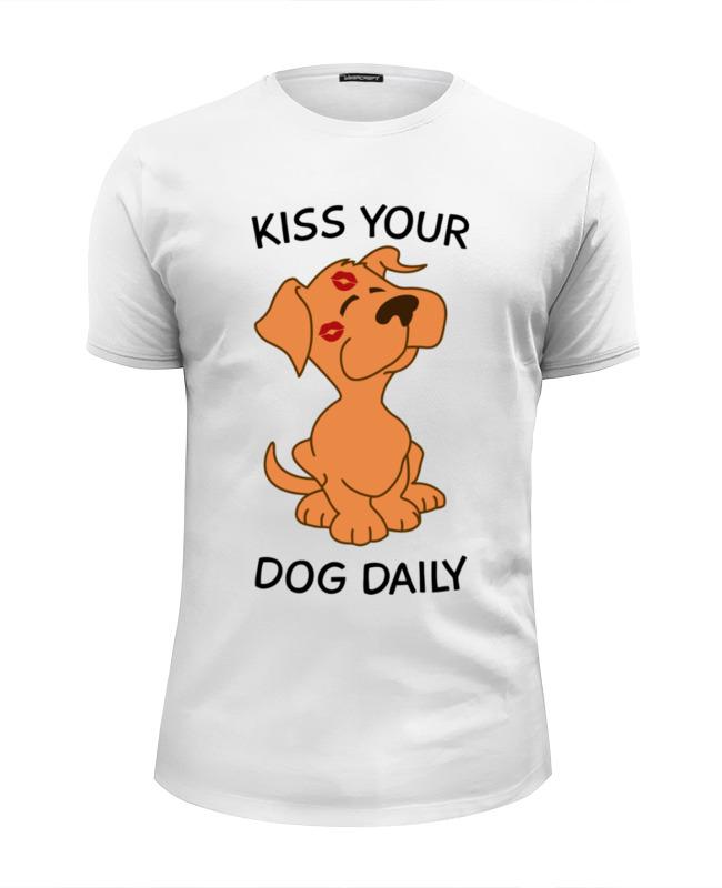 Футболка Wearcraft Premium Slim Fit Printio Поцелуй собаку