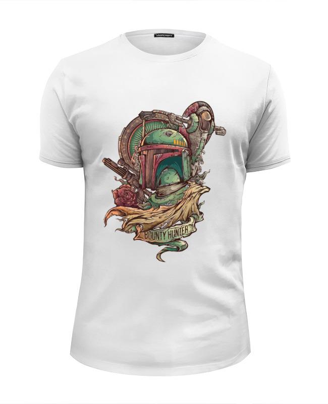 Футболка Wearcraft Premium Slim Fit Printio Боба фетт - охотник за головами футболка рингер printio боба фетт охотник за головами