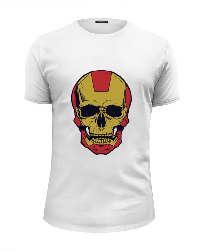Футболка Wearcraft Premium Slim Fit Printio Череп (железный человек) футболка wearcraft premium slim fit printio ктулху железный человек