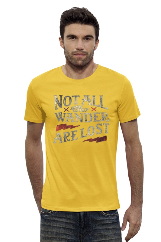 Футболка Wearcraft Premium Slim Fit Printio Notall who wander are lost