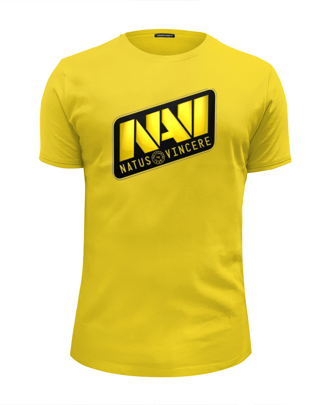 Футболка Wearcraft Premium Slim Fit Printio Natus vincere футболка wearcraft premium printio natus vincere na vi – illustration black