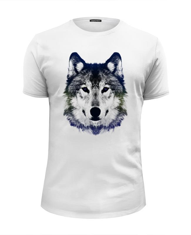 Футболка Wearcraft Premium Slim Fit Printio Серый волк