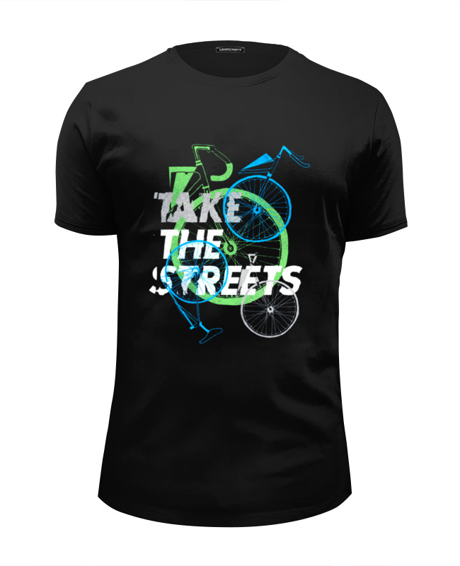 Футболка Wearcraft Premium Slim Fit Printio Take the streets the day the streets stood still
