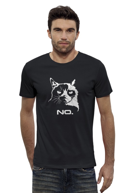 Футболка Wearcraft Premium Slim Fit Printio Сердитый котик / grumpy cat (no.) футболка wearcraft premium slim fit printio нет проблем no prob llama