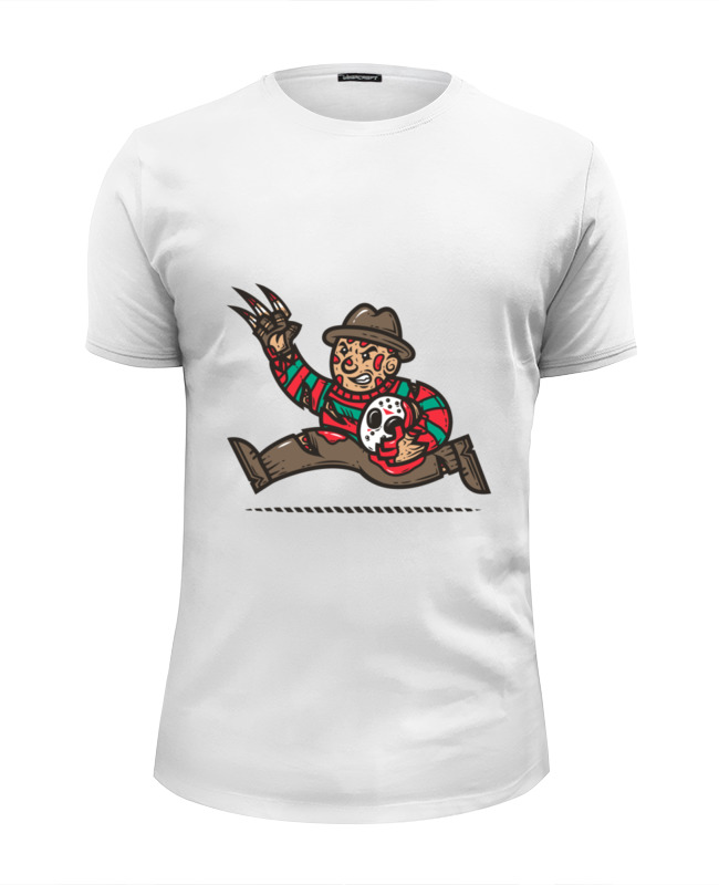 Футболка Wearcraft Premium Slim Fit Printio Фредди крюгер футболка wearcraft premium slim fit printio фредди крюгер