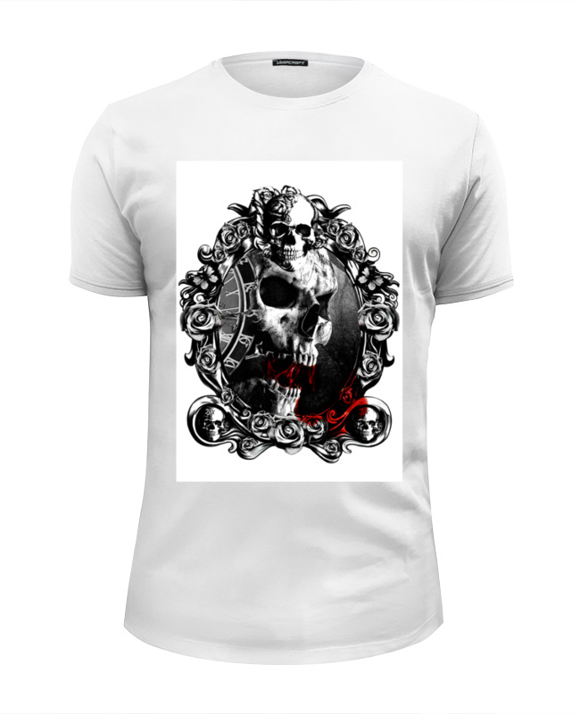 Футболка Wearcraft Premium Slim Fit Printio Skull - 13 футболка wearcraft premium slim fit printio low poly skull