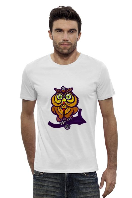 Футболка Wearcraft Premium Slim Fit Printio Сова (owl) футболка wearcraft premium slim fit printio ночная сова owl