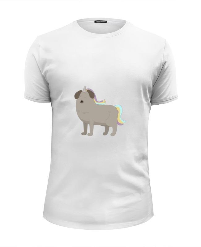 Футболка Wearcraft Premium Slim Fit Printio Пёс - единорог футболка wearcraft premium slim fit printio единорог