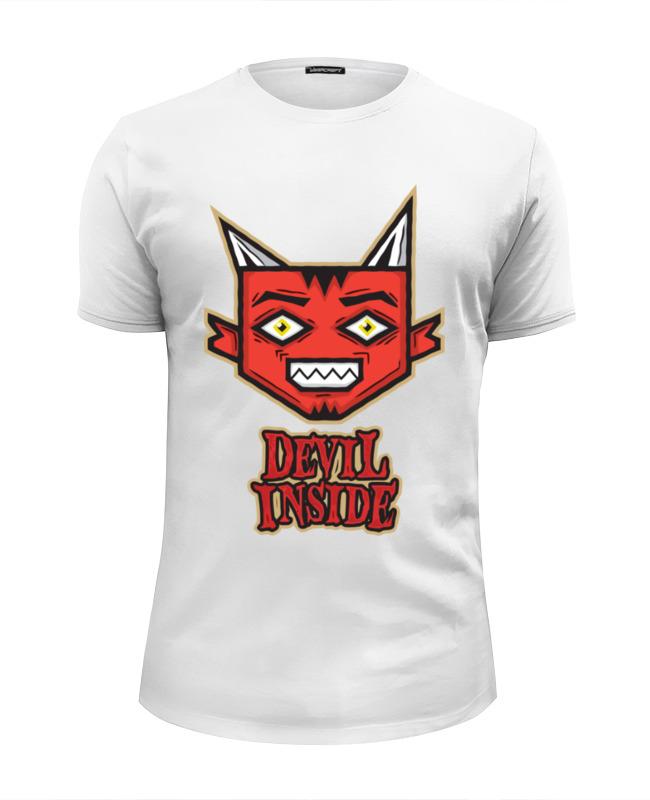Футболка Wearcraft Premium Slim Fit Printio Дьявол внутри футболка wearcraft premium slim fit printio тасманский дьявол