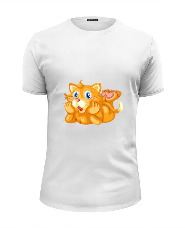 Футболка Wearcraft Premium Slim Fit Printio Рыжий кот футболка wearcraft premium slim fit printio кот суши