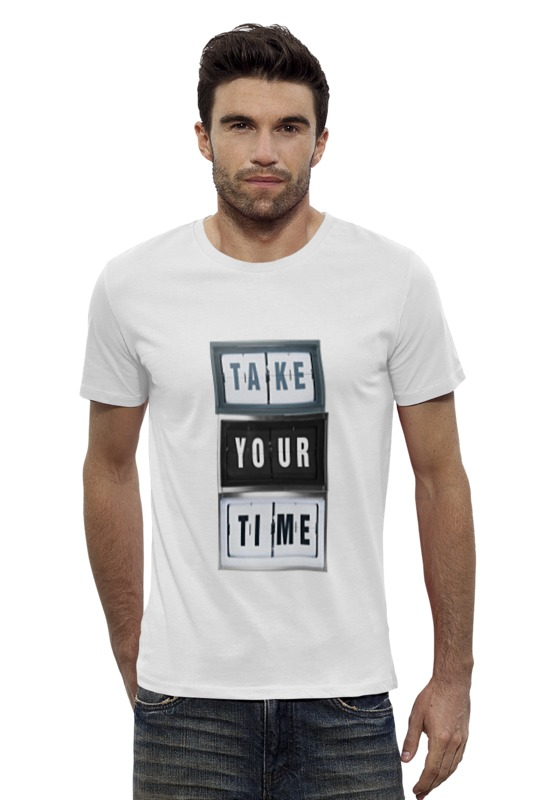 Футболка Wearcraft Premium Slim Fit Printio Не торопитесь футболка wearcraft premium slim fit printio не ашан