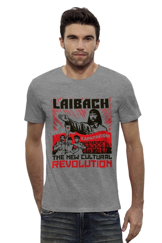 Футболка Wearcraft Premium Slim Fit Printio Laibach / the new cultural revolution толстовка wearcraft premium унисекс printio laibach the new cultural revolution